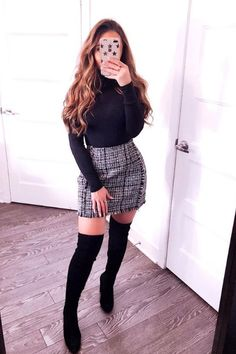 30 Ways to Dress Up on Thanksgiving Cute Winter Outfits, Dressy Outfits, Holiday Outfits, Simple Outfits, Fall Outfits, Cute Outfits, Skirt Outfits, Baby Girl Thanksgiving Outfit, Elegantes Outfit