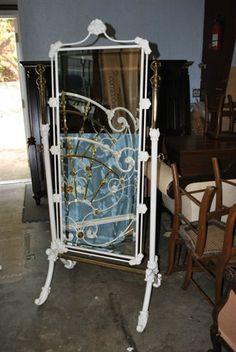 White Iron Floor Standing Mirror | Decor | Pinterest | Floor ...
