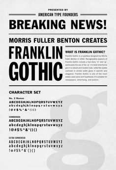 Franklin Gothic Typography Poster by Stanley Diaz, via Behance