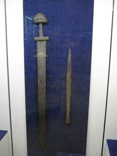 Ulfberht sword and damascus spearhead from Gnezdovo, near Smolensk, Russia…