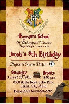 Harry potter birthday invitation by imagineitpartypaper on etsy harry potter gryffindor birthday invitation invitacion de cumpleaos harry potter filmwisefo