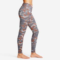 Camo print Tippy Toe Vigor Leggings crafted from  AURUM® HERRING fabric to hold its color and hold you in place best | Yoga Leggings for Women | Printed Workout Bottoms | Superb support, feel & comfort.