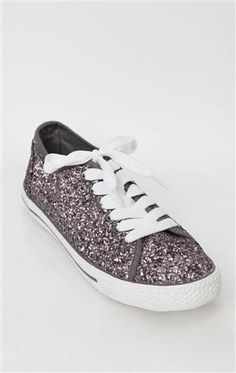 Deb Shops low top chunky #glitter #sneakers $20.90