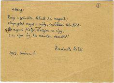 Radnóti Miklós kézirata Book Worms, Tattoo Quotes, Zen, Literature, Poems, Thoughts, Reading, Quotation, Literatura