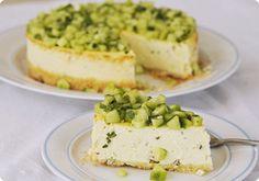 Découvrez la recette Cheesecake salé : chèvre, menthe, citron et concombre sur cuisineactuelle.fr.