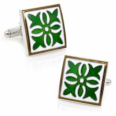 Green Gothic Medallion Cufflinks