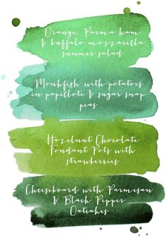 Watercolour paint palette menus with blank printable. I put this under food so I would remember it would work for a dinner party. Menu Illustration, Printable Menu, Free Printables, Watercolor Typography, Chocolate Fondant, Snap Peas, Art Party, Menu Cards, Menu Restaurant