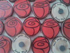 #Rosa #Sant Jordi  #mesquetapes #manualitats #tronc #iman
