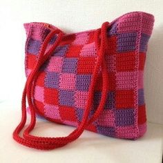 Love this colorful crochet bag by Jellina Creations