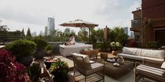Toit terrasse - Hôtel Massenet at Sinan Mansions - 5 étoiles - Shanghai - Chine #spa #massage #wellness #relax #terrace #hotel #shanghai #china