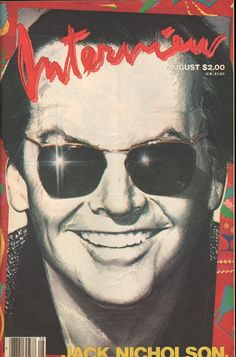 Jack Nicholson 1984 Andy Warhol's Interview Magazine