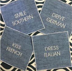 Cute embroidered cocktail napkins