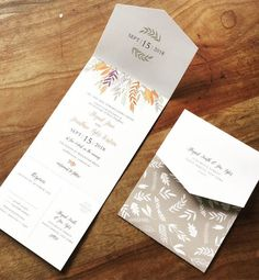 All in one wedding invitation. Seal and send.