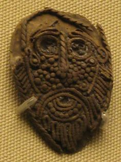 Head of Odin A 9th century pendant from Bridlington, East Yorkshire, England. Possibly depicting the god Odin (based on museum notes). From the collection of the British Museum, London, England.