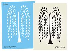 free primitive stencils | Primitive STENCIL Willow Tree Simplify Home Decor Folk Art Wall Craft ...