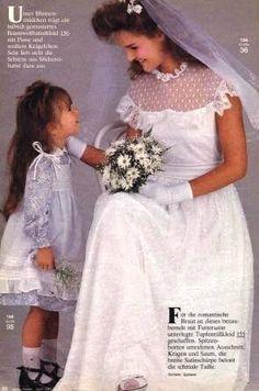 1985, Burda moden 80s Big Hair, Pretty Dresses, Beautiful Dresses, 80s Fashion, Vintage Fashion, 1980s Wedding, Vintage Weddings, Teenage Years, Beautiful Bride