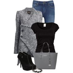 Black and Gray, created by denise-schmeltzer on Polyvore