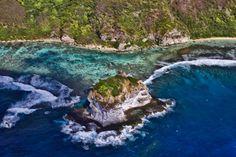 Bird Island, a beautiful sanctuary at the Pacific coast of Saipan  (north west Saipan)