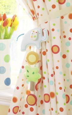 Tiddly Wink Safari Tie Backs Nursery Animal Themes Lollipop Lane