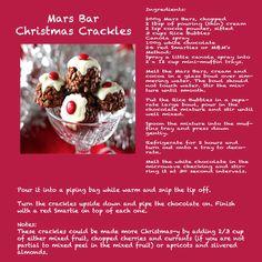 Mars bar Christmas crackles
