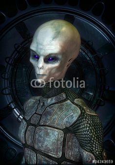 alien grey in uniform