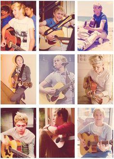 Niall Horan guitar collage