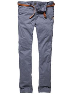 Cotton Chino Pants in Blue
