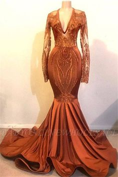 This Classic Dust Orange Mermaid V-neck Long Sleeve Prom Dresses Cheap at Newarrivaldress comes in all sizes and colors. Shop an amazing selection of Mermaid Long Sleeves Appliques prom dresses for juniors in cheap price. Orange Prom Dresses, Prom Girl Dresses, Prom Dresses Long With Sleeves, Prom Outfits, Cheap Prom Dresses, Trendy Dresses, Wedding Dresses, Maxi Dresses, Bridesmaid Dresses