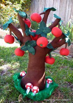 Mini Apple Tree 4 Seasons Plush Tree with от LittleFruits на Etsy