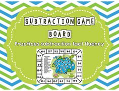 This unique subtraction game board is a fun, hands-on activity that engages students as they practice subtraction fact fluency. This game can easily be used in small group instruction, math centers, whole class activity, as a supplemental to your math curriculum, as a fast finisher activity, or to differentiate your instruction. No matter how you use it, your students will have fun learning!There is no prep for these games. Ready to simply print and play!
