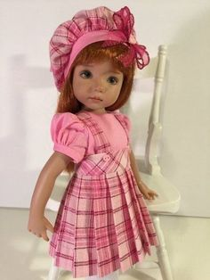 """Valentine Plaid"" Made for Effner Little Darling by Treasured Doll Designs #Unbranded"