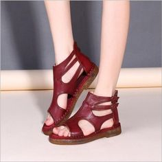 85b28a4986f288 comHot sale summer sandals female handmade genuine leather women casual  comfortable flat shoes summer boots women sandals