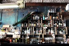 Bottle/bar display - grazie, paris by the style files, via Flickr