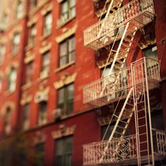 Some of the best balconies and fire escapes in the city are found in Greenwich Village.