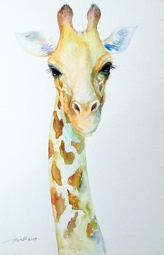 Best Watercolor Giraffe Images Giraffe Art Giraffes - Giraffe Painting Giraffe Watercolor Animal Art By Signedsweet This Would Be Cute In A Childs Bedroom Watercolor Painting Of A Giraffe By Artist Eric Sweet Giraffes Are My Absolute Fav Enjoy T Watercolor Paintings Of Animals, Animal Paintings, Animal Drawings, Watercolor Art, Drawing Animals, Giraffe Art, Giraffe Images, Giraffe Painting, Art Et Illustration
