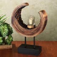 Resultado de imagem para queimadores de velas de madeira pinterest