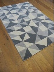 Tapis triangles scandinaves gris - Canvas