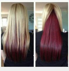 I love this. I wanna try it but with dark purple with my dark brown hair.
