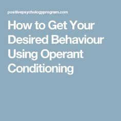 Operant conditioning helps to develop desired behaviours. Whether it is your work, children or health, reinforcement is a valuable tool for behaviour change How To Apply, How To Get, How To Plan, Behaviour Change, Operant Conditioning, Behavioral Psychology, Applied Behavior Analysis, Behavior Plans, Special Education