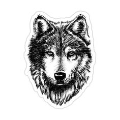 Decorate laptops, Hydro Flasks, cars and more with removable kiss-cut, vinyl decal stickers. Glossy, matte, and transparent options in various sizes. Super durable and water-resistant. Wolf drawn using photoshop with layers and a Wacom Board to draw it out. Drawings For Boyfriend, Tumbler Stickers, Timber Wolf, Wolf Love, Halloween Stickers, Aesthetic Stickers, Laptop Stickers, Teen Wolf, Sticker Design