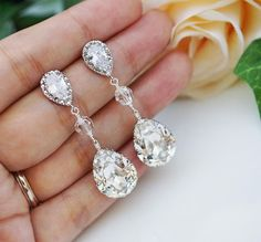 Swarovski Crystal Tear drops! Beautiful!