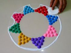 Easy rangoli patterns - 3   Small, quick and easy rangoli designs   Easy Rangoli by Poonam Borkar - YouTube