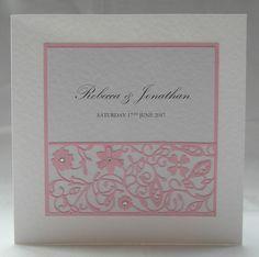 Entwined Wedding Invitation, Fairytale, Handmade, Pink