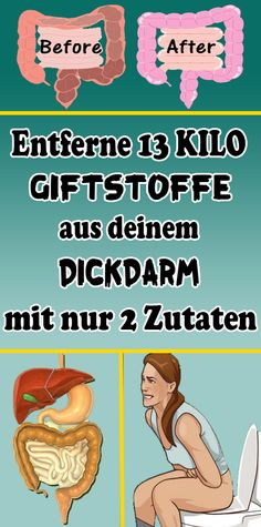 Remove 13 kilos of toxins from your large intestine with only 2 .- Entferne 13 Kilo Giftstoffe aus deinem Dickdarm mit nur 2 Zutaten Remove 13 kilos of toxins from your colon with only 2 ingredients - Healthy Sport, Healthy Tips, How To Get Slim, How To Remove, Pyramid Workout, Hips Dips, Colon, Under 100 Calories, Fat Burning Drinks