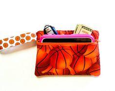 Basketball Phone Wristlet - Monogram Wristlet - Game Day Wristlet - Basketball Gift - Phone Wallet - Cell Phone Wristlet - Wallet Wristlet by fabuellaboutique. Explore more products on http://fabuellaboutique.etsy.com