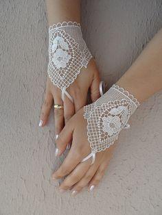 Wedding glove ivory lace glove  Bridal Glove ivory by WEDDINGHome, $25.00