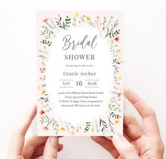 Bohemian Bridal Shower Invitation Wildflower Bridal Shower | Etsy