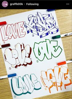Love Graffiti, Graffiti Words, Graffiti Writing, Graffiti Tagging, Graffiti Styles, Graffiti Wall, Street Art Graffiti, Graffiti Art Drawings, Graffiti Artists