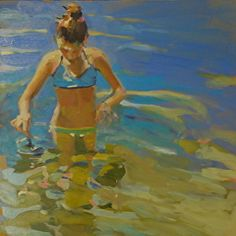 Water Discovery by Laura Lacambra Shubert  Oil ~ 24 x 24