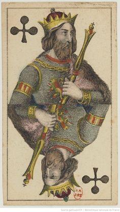 [Таро немецкий портрет Франкфурт на две головы] : [игры, карты, гравюры] | Gallica